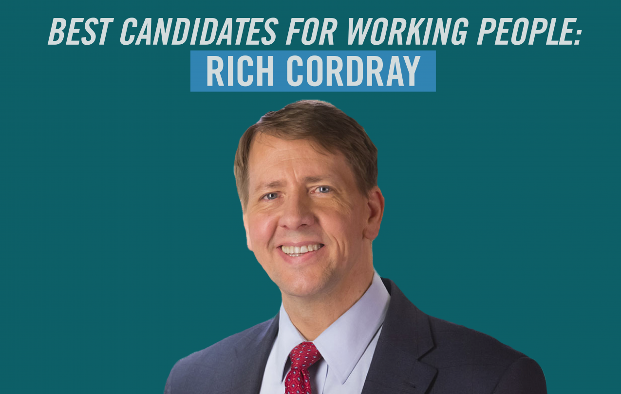 Best Candidates for Working People: Rich Cordray